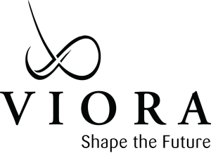 Viora Logo With Tagline Black On Transparant